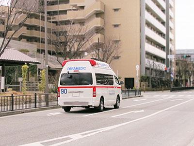 救急搬送に対応しています